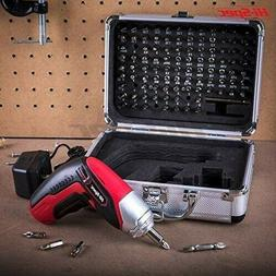 Cordless Screwdriver Set Kit Electric Rechargeable With Case