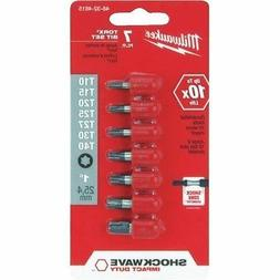 "MILWAUKEE ELEC TOOL 48-32-4615 1""Torx Ins Bit Set"
