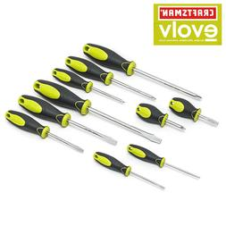 Craftsman Evolv 10 pc Screwdriver Set Standard 5 Slotted 5 P