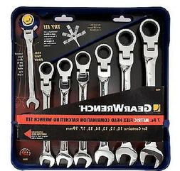 Gearwrench Flex Head Metric Comb 7Pc