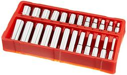 GreatNeck 18622 Metric Socket Set, 1/4 Inch Drive, 24-Piece
