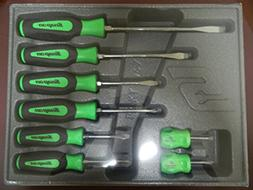 Snap-On 8 Piece Green Handle Combination Screwdriver Set, Pa