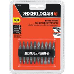 10-piece 1/4 inch Hex Shank Power Drill Bit Set - SLOTTED, P