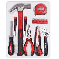 Hi-Spec 18 Piece Household Tool Set of Hands Tools, Claw Ham