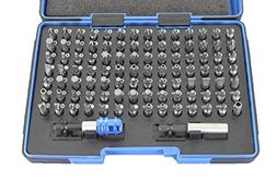TEMO 100 pc Impact Ready Security Bits Screwdriver Set Kit w