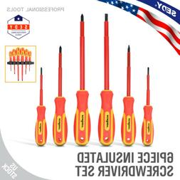 Insulated Slotted & Phillips Electricians Screwdrivers Set M
