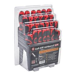 KING Screwdriver Set w/Stand, Slotted, Phillips, Pozi, and S
