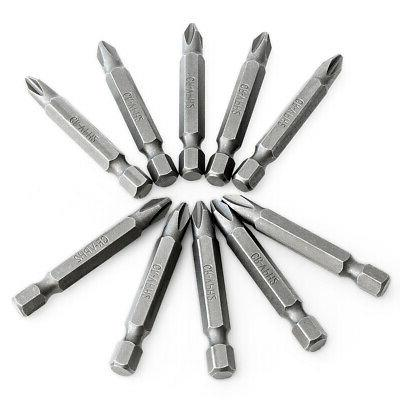 """10 Bits #2x2"""" Long Magnetic Tips Drill"""