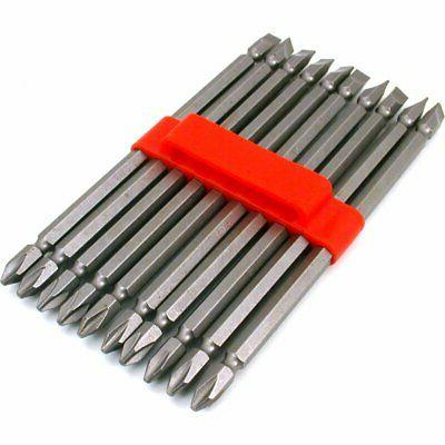 10 double end slotted phillips screwdriver bits