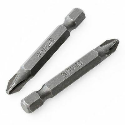 """10 PC Screwdriver Bits #2x2"""" Long Magnetic Tips Hex Drill"""
