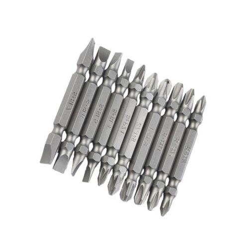 10pcs New Magnetic Double End Screwdriver Bit Electric Power Tool