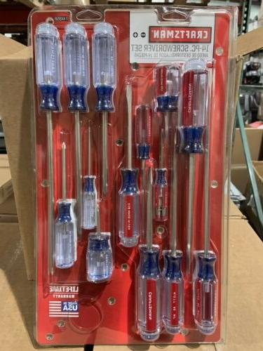 14pc screwdriver set made in usa