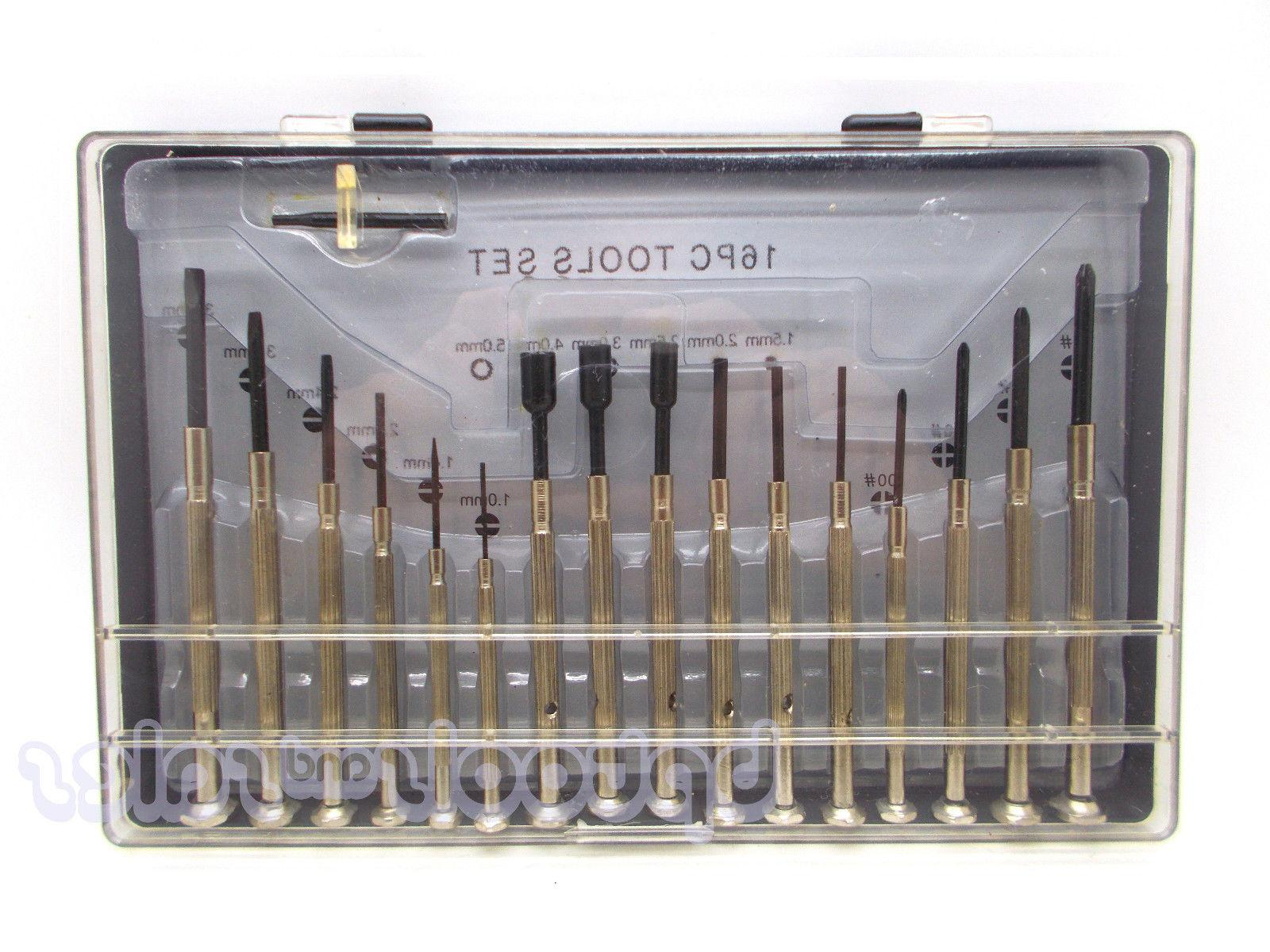 16pc Small Mini Precision Screwdriver Set for Watch Jewelry