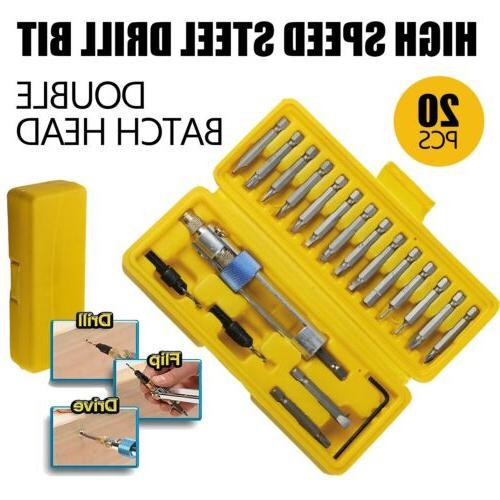 20pcs set half time drill driver multi