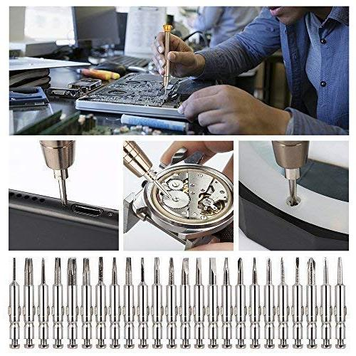 25 1 Screwdriver Set, Repair Tool Kits Black Bag PC, Eyeglasses, Watch, Digital and Other