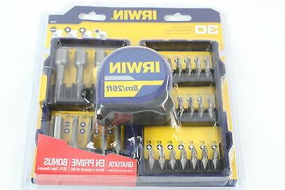 Irwin 30-Piece with Tape Measure, 1904305 - New Item