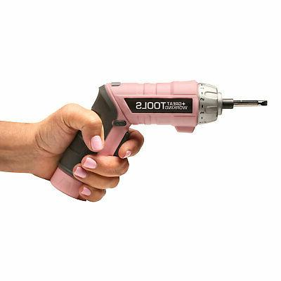 Great Working Tools 45 Piece Cordless Set Pink