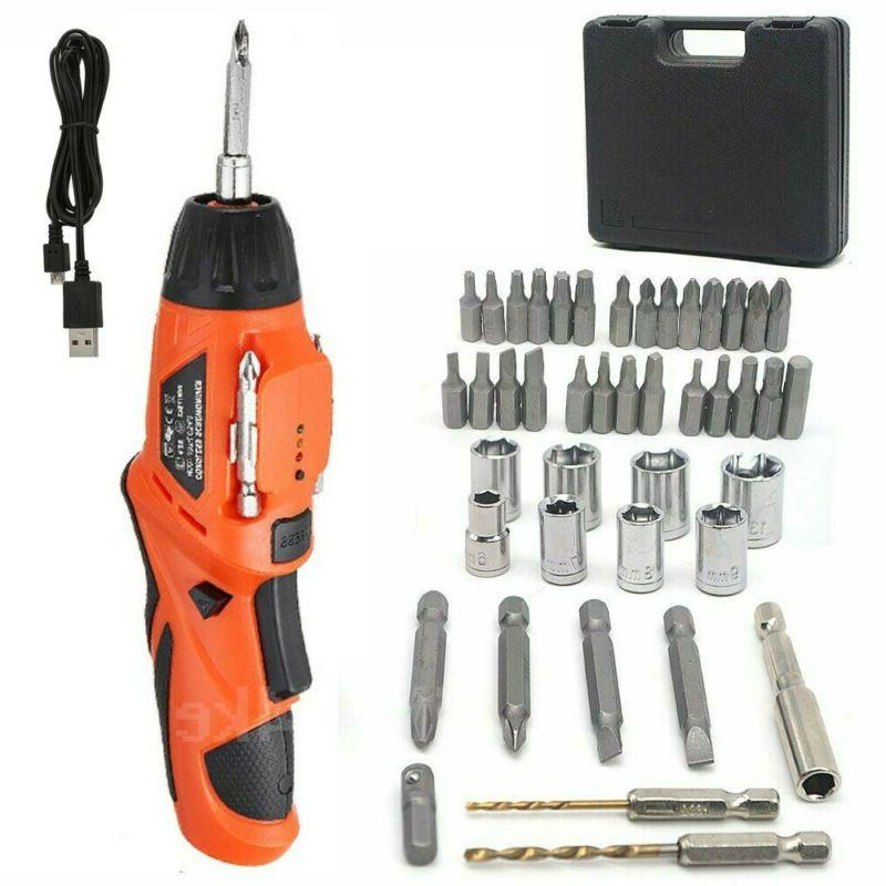 45pcs mini electric cordless drill rechargeable screwdriver