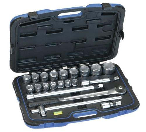 Heytec 50805947080 Double Ended Ring Wrench Set Silver//Black//Blue Set of 12 Piece