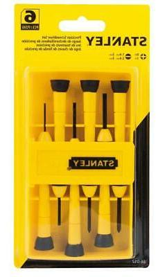 6-pc Stanley Precision Comfort Grip Precision Screwdriver Se