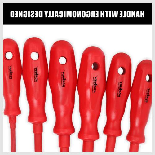 6pc 1000V Insulated Set Tips Slotted