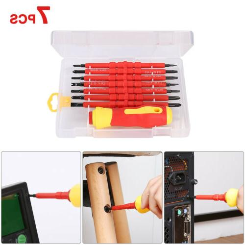 7Pcs 380V Insulated Magnetic Electrical Tool