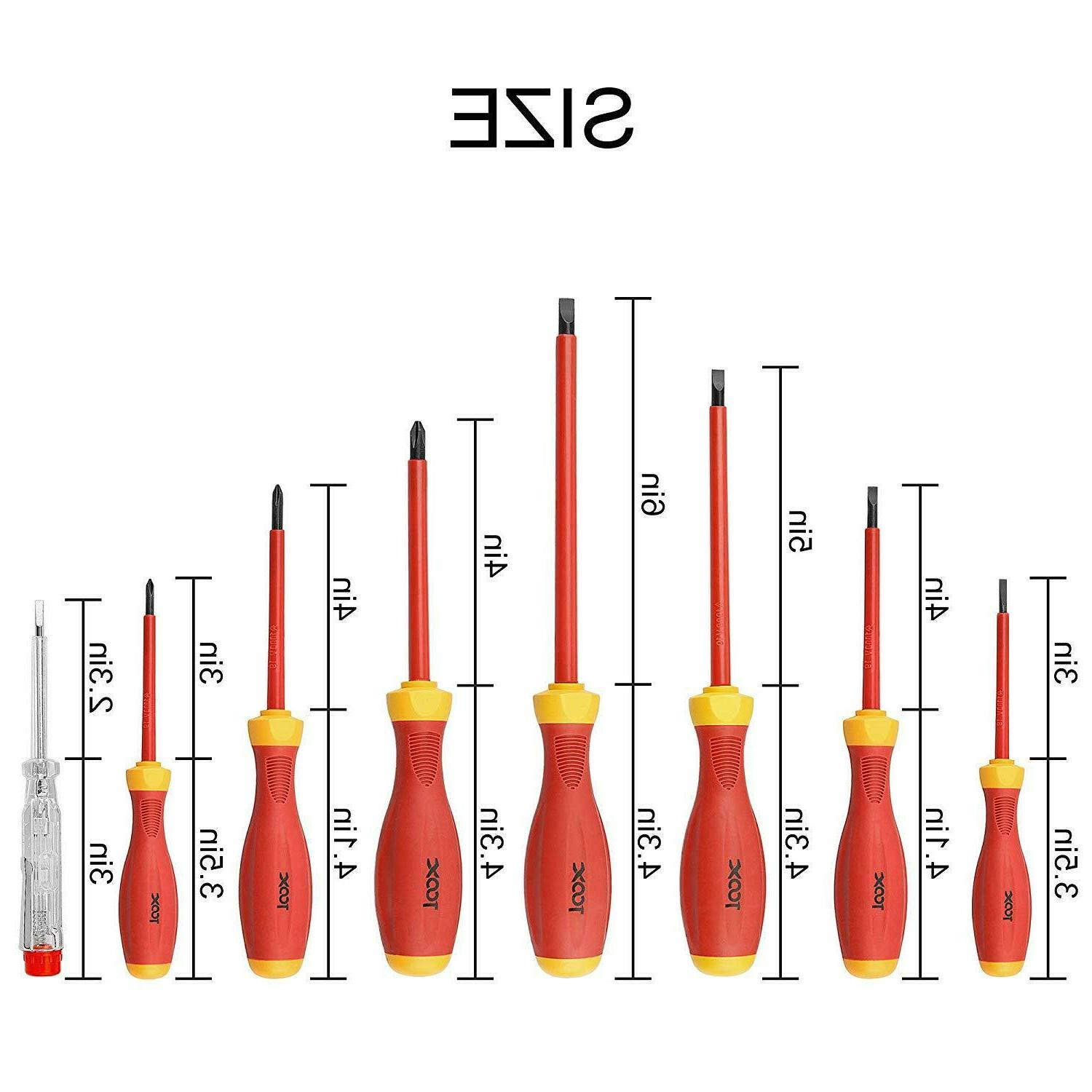 8Pcs Electrician Insulated Hand Screwdriver 1000V US