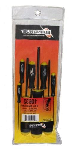 Bondhus 8 Pc. Hex Ball End Screwdriver Set Includes 2-10mm