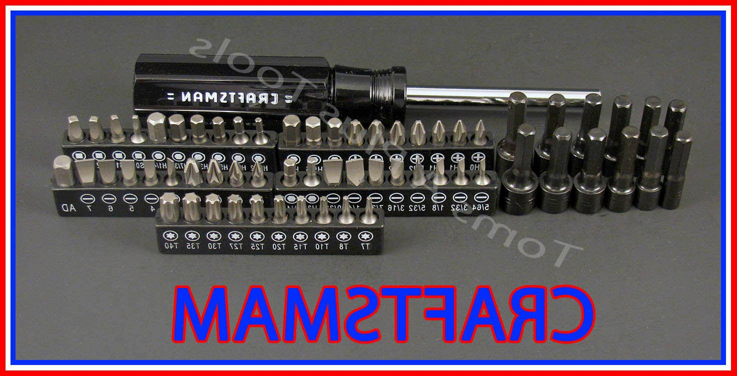 CRAFTSMAN HAND TOOLS 63pc Magnetic Torx Handle Screwdriver /