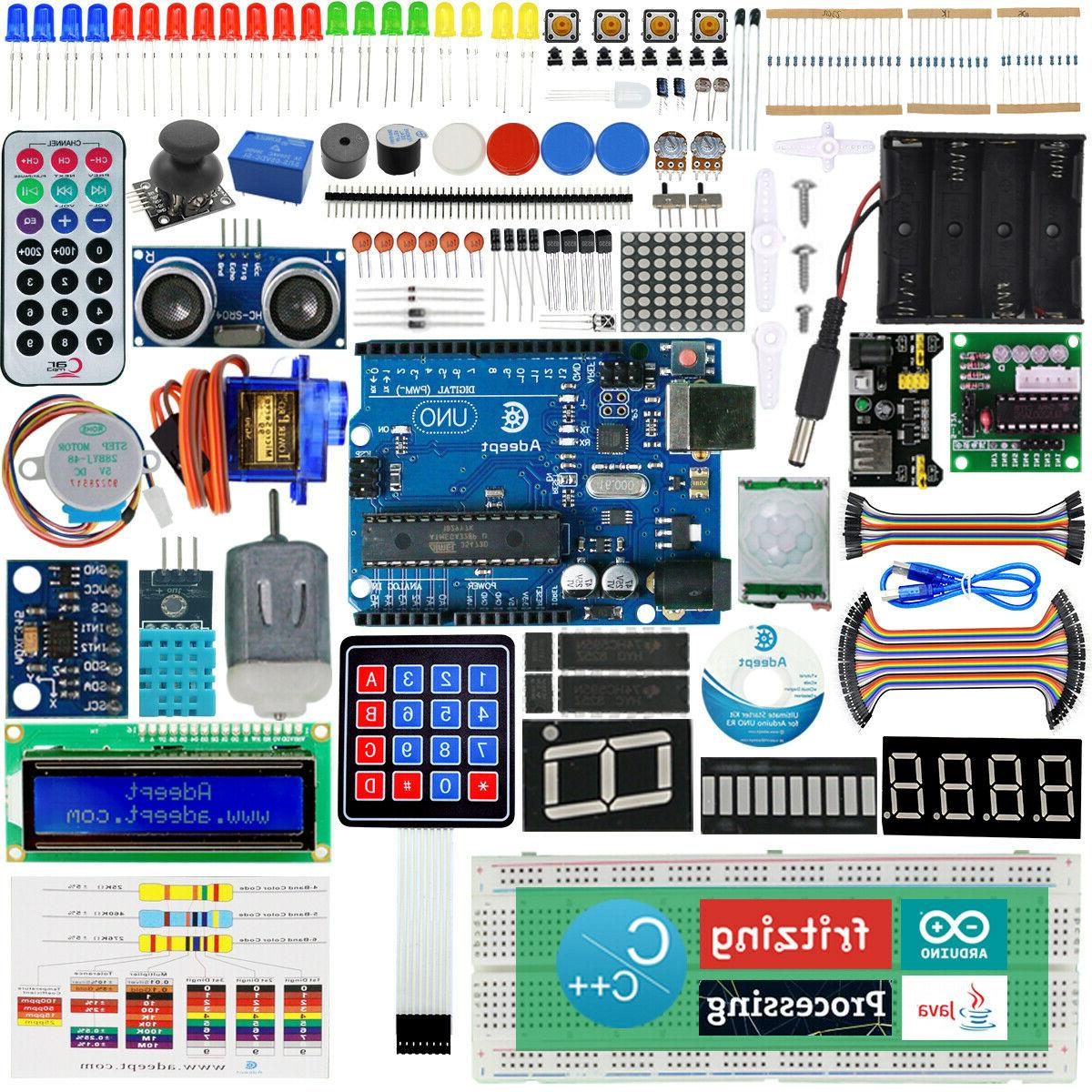 Adeept Ultimate Starter learning Kit for Arduino UNO R3 LCD1