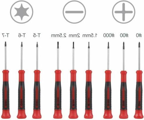 Best 9-Piece Precision Screwdriver Set | Phillips, Flat and