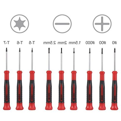 Best Choice 9-Piece Precision Screwdriver Flat and Torx Star