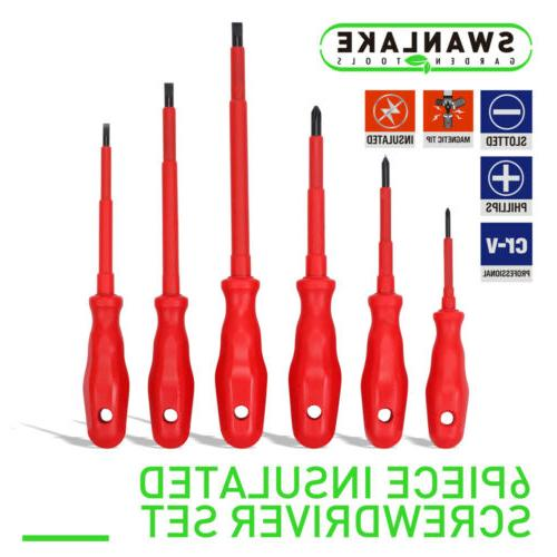 electrician insulated screwdriver set magnetic phillip