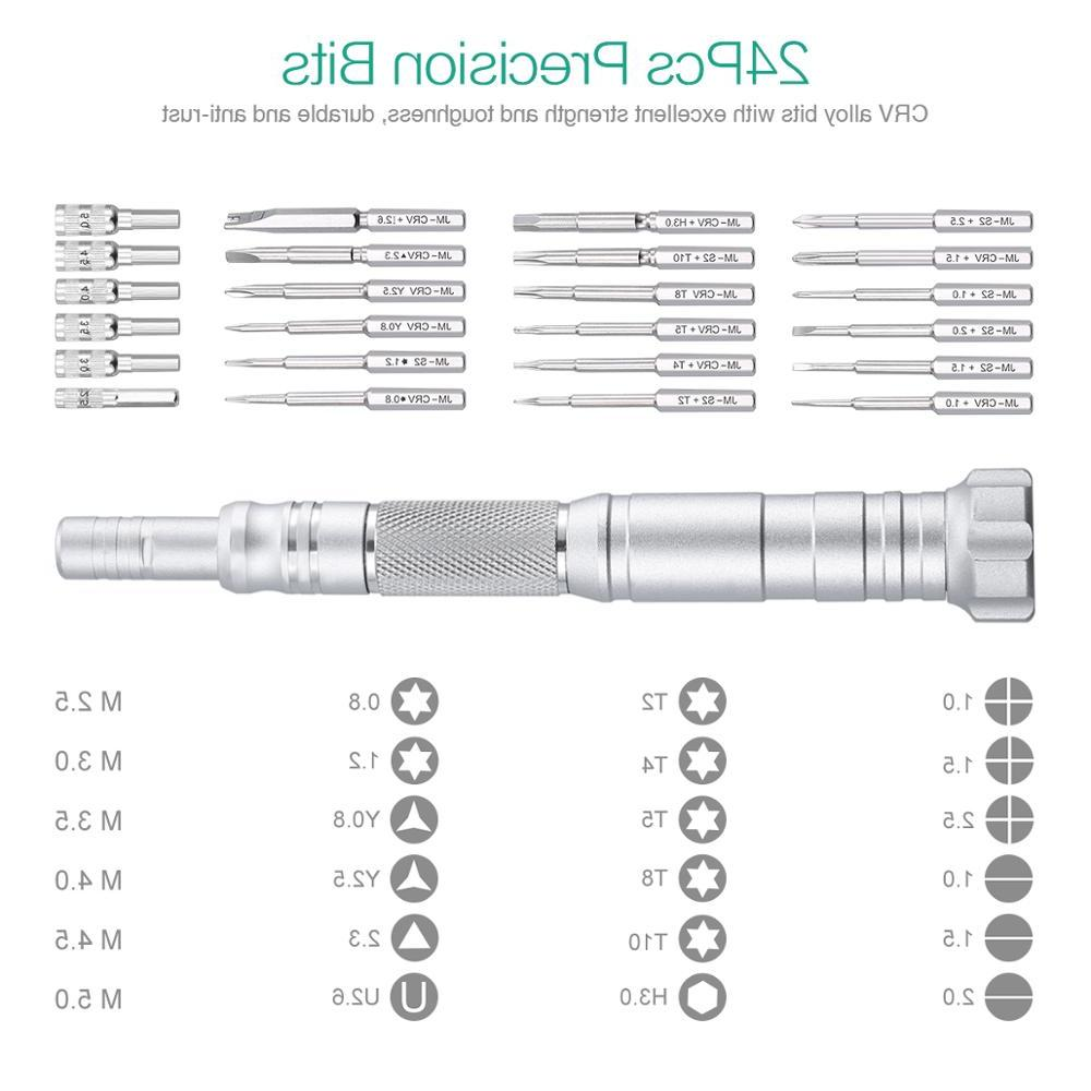 <font><b>ORIA</b></font> Screwdriver Set in Screwdriver <font><b>Kit</b></font> <font><b>Repair</b></font> Aluminum Handle for Smartphone Computer Tablet