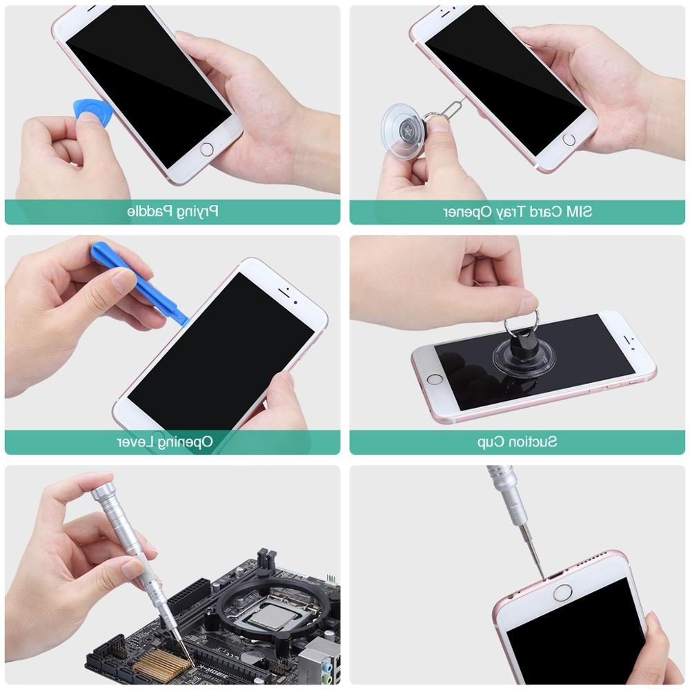 <font><b>ORIA</b></font> 30 in 1 Magnetic Screwdriver <font><b>Kit</b></font> Tool <font><b>Kit</b></font> Aluminum Smartphone Computer