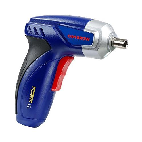 WORKPRO 3.6V Cordless Screwdriver Set Lithium-Ion Screw Gun Charger and Bit