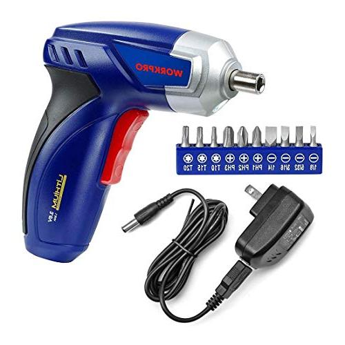 lithium ion cordless rechargeable screwdriver