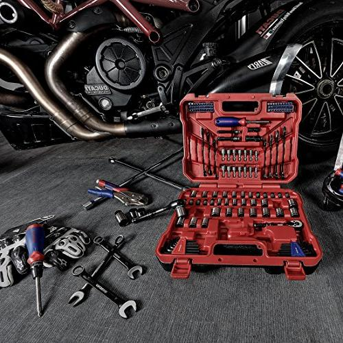 WORKPRO 145-piece Kit Black Ratchets, and with