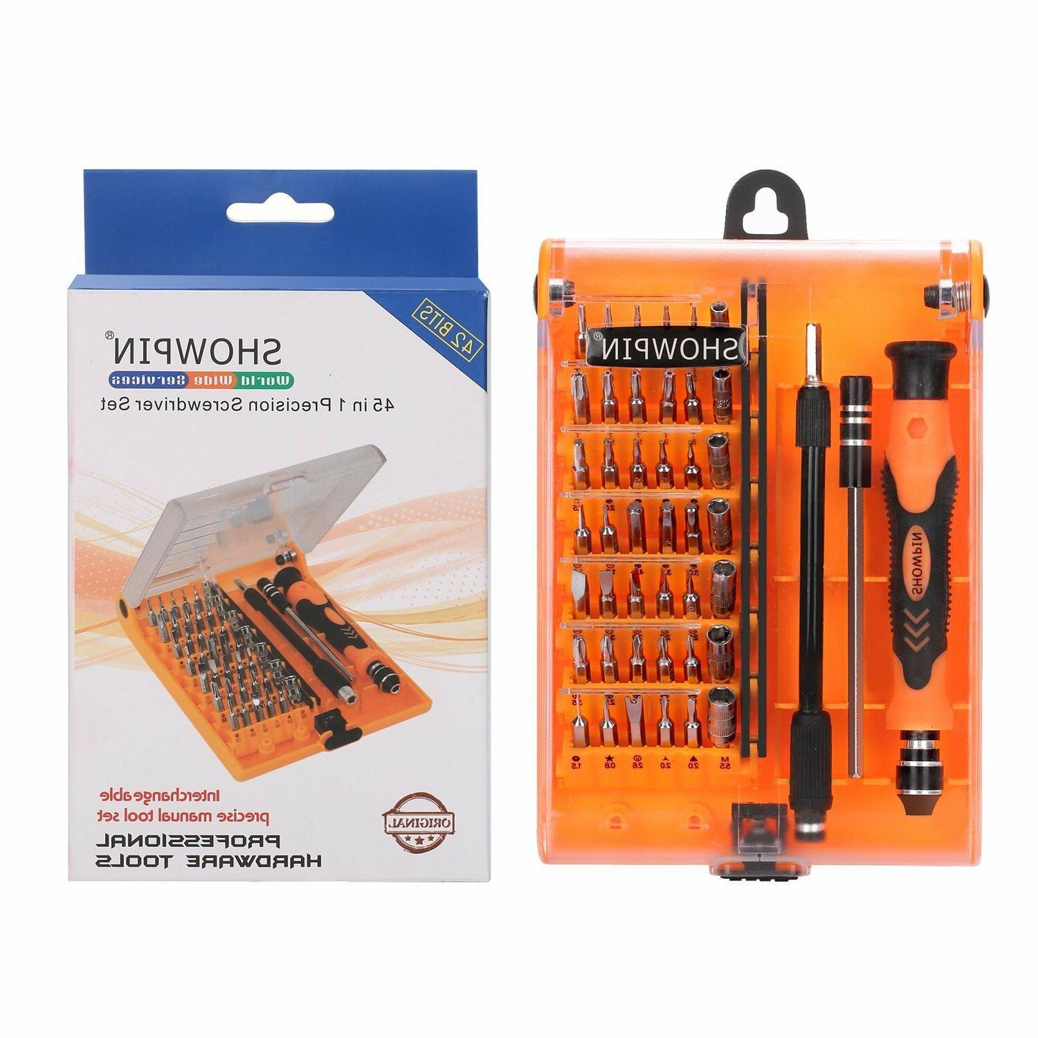 45in1 Precision Screwdriver Set with Handle Torx Bits
