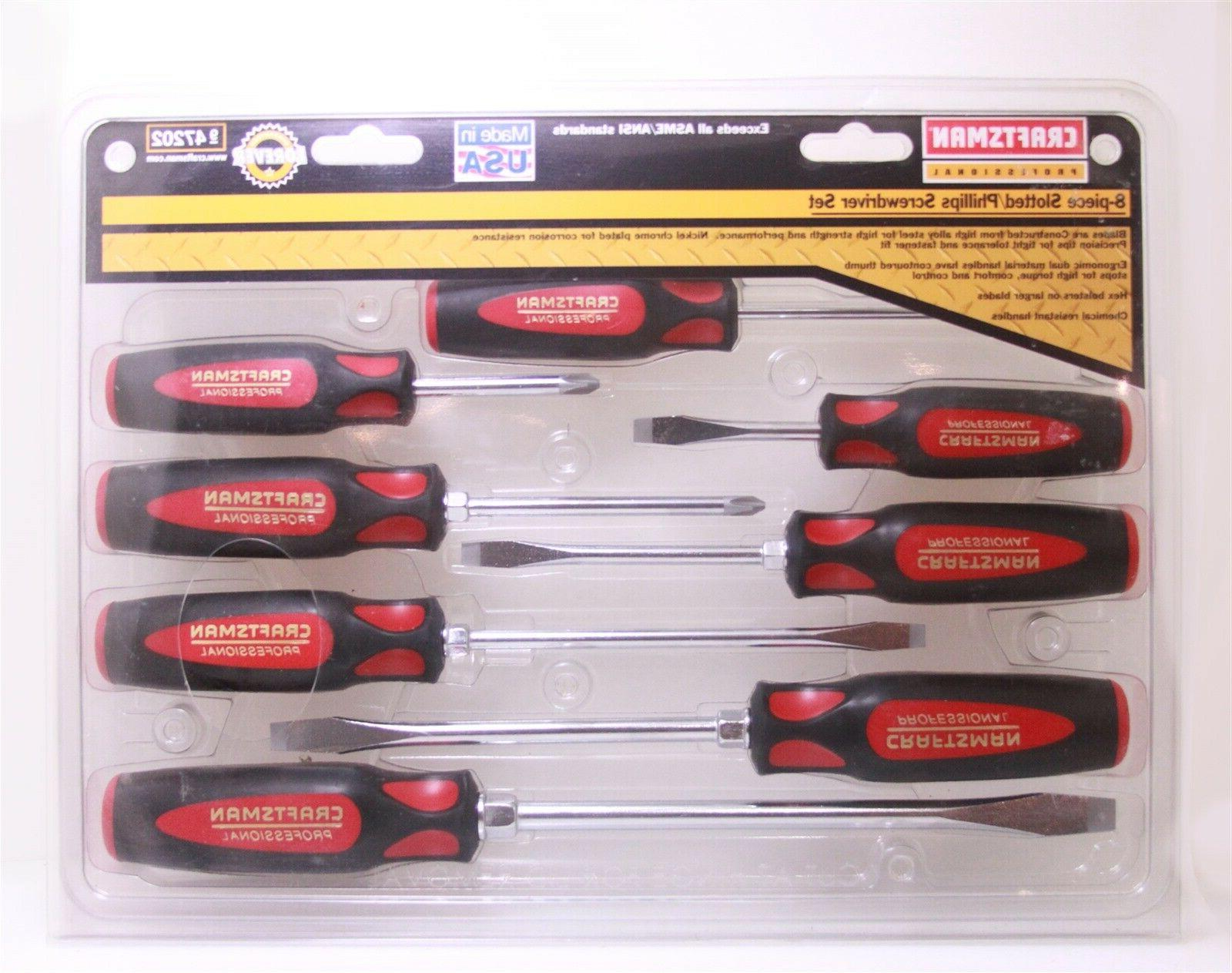 professional 47202 8 pc screwdriver set made