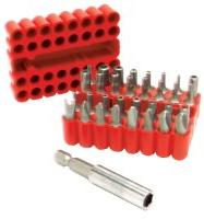 Performance Tool Screwdriver Bits Security 33-piece Steel 1/