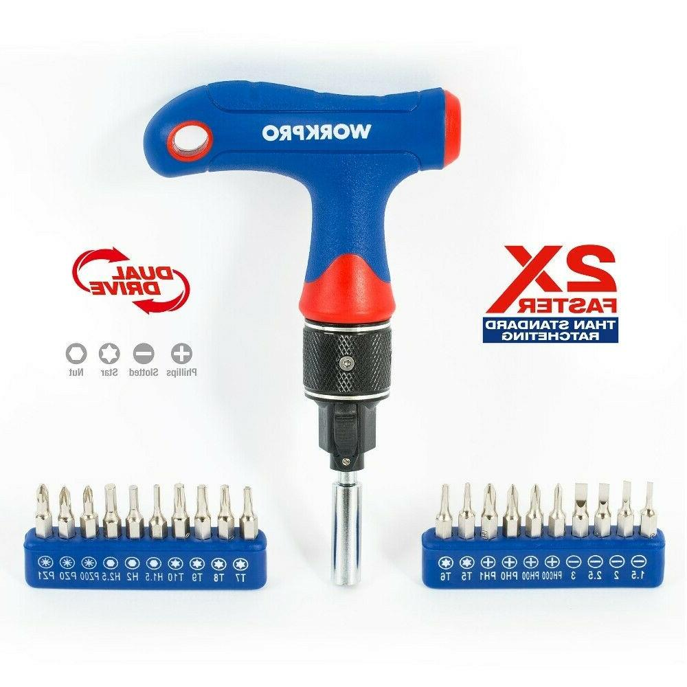 Workpro Screwdriver Precision Screwdriver Set with Bit set T