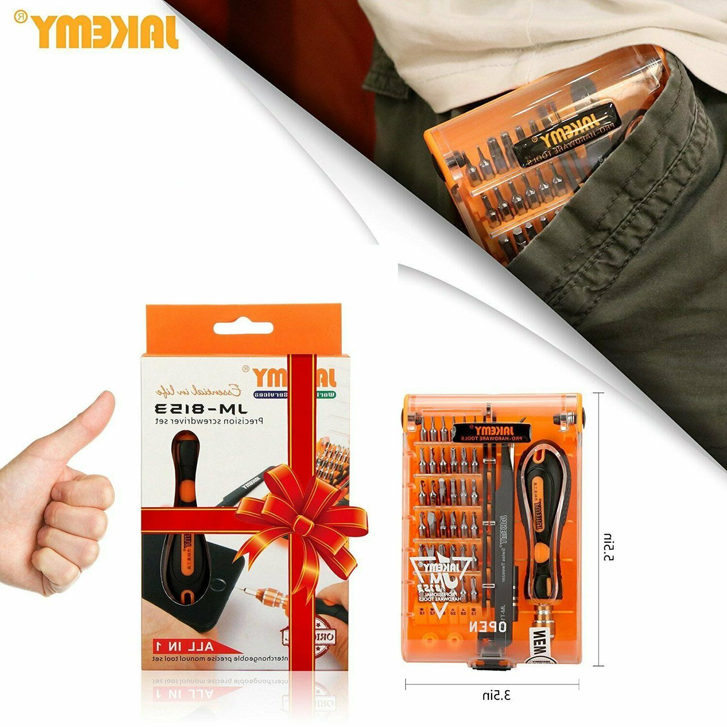 Screwdriver Set 1 JAKEMY Magnetic Replaceable