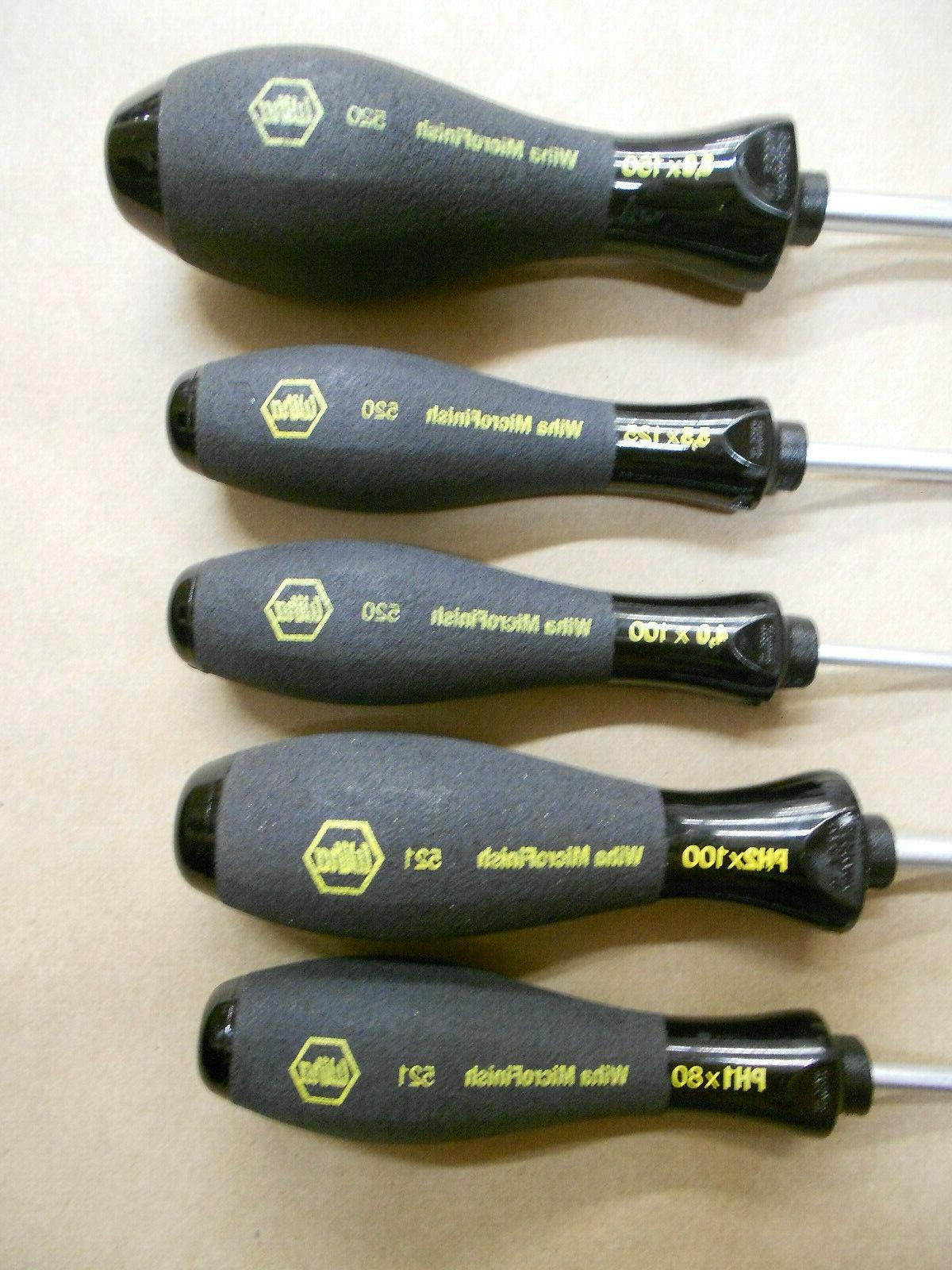 Wiha Screwdriver Slotted and 5 Non Slip Grips Free