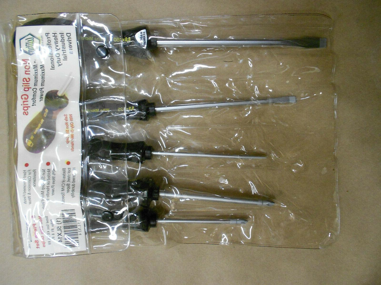 screwdriver set slotted and phillips 5 piece