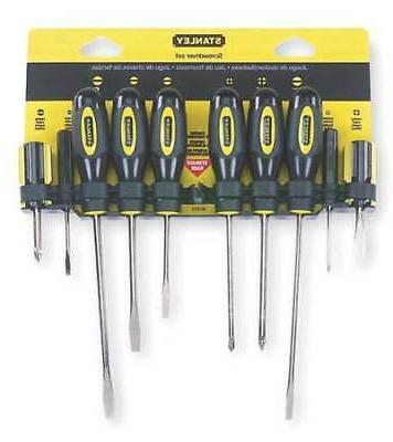 STANLEY 60-100 Screwdriver Set,Slotted/Phillips,10 Pc