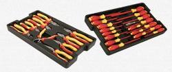 Wiha Tools 32989 Insulated Pliers & Driver Set In Tray - 28