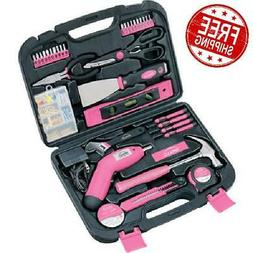 Ladies Tools Set Kit 135 Piece Household Pink Apollo Hand Po