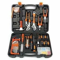 100 Pieces Household Tools Home Tool Set Kit Box Repair Hard