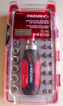 new 30 piece ratcheting screwdriver and socket